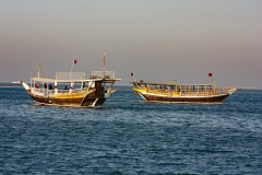 Dhows on Doha Bay