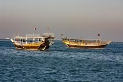 Dhows on Doha Bay